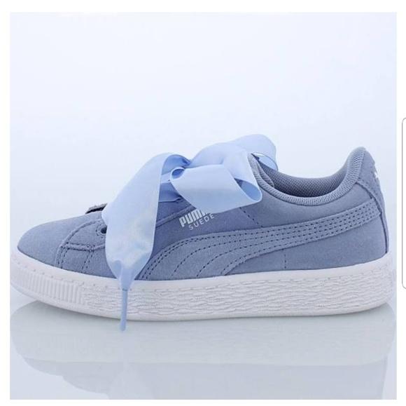 buy popular e8dad beca3 Puma suede heart sky blue